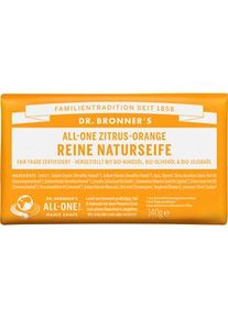 Dr. Bronner's Pflege Körperpflege All-One Zitrus-Orange Reine Naturseife 140 g