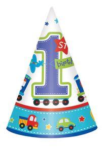 Amscan Premier chapeau de fête d'anniversaire garçon avec jouets 8 pièces