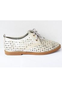 Pantofi dama argintii, sport, material perforat.