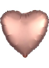 Amscan Ballon coeur romantique de luxe en or rose