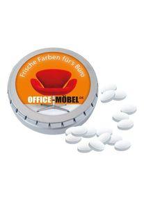 Objet publicitaire : MINI Boîte «Clic-Clac» avec pastilles Cool Ice | blanc