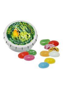 Objet publicitaire : SUPER MINI Boîte «Clic-Clac» avec American Jelly Beans | blanc