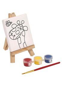 Giffits Jouets pour enfants publicitaire: 'Set à dessin BRUSH & EASEL' - coloré - Bois - comme goodies publicitaires Impression du logo moyennant des frais supplémentaires (1 pièce/prix)