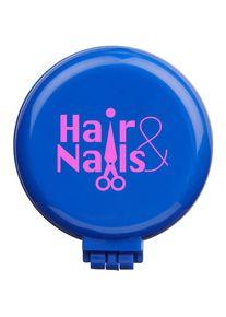 Giffits Peignes et brosses à cheveux publicitaires personnalisés: 'Brosse pliable' - Bleu - Plastique - comme goodies d'entreprise Impression du logo moyennant des frais supplémentaires (1 pièce/prix)