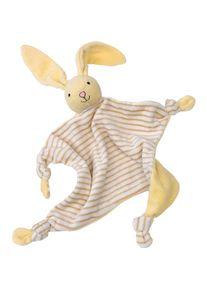 Giffits Peluches publicitaire: 'Doudou lapin OLE' - blanc / marron / jaune - Polyester - comme goodies-promotionnels Impression du logo moyennant des frais supplémentaires (1 pièce/prix)