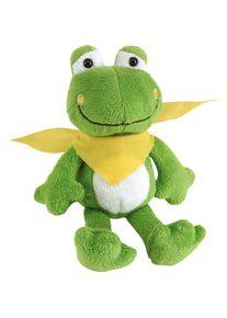 Giffits Jouets pour enfants publicitaires: 'Peluche grenouille BERND' - vert / jaune - Polyester - comme objets-publicitaires Impression du logo moyennant des frais supplémentaires (1 pièce/prix)