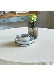 Mistral Home Nappe aspect lin, Ø 160 cm - Naturel