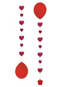 Amscan 3 breloques coeur ballon romantique 1m