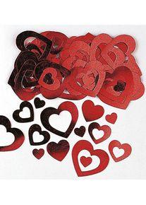 Amscan Décor à saupoudrer de coeur romantique rouge 14g