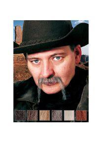 maskworld Cowboy Moustache professionnelle en poils véritables