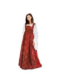 maskworld Medieval Dress - Fleur-De-Lis, red