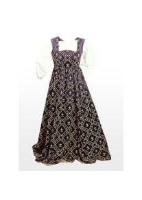 maskworld Medieval Dress - Fleur de Lis, blue