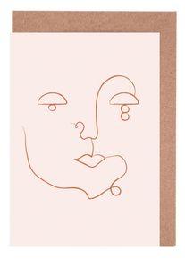 """Set de Cartes de Vœux Portraits """"Visage"""" von JUNIQE - Cartes d'Design"""