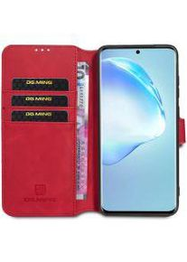Samsung DG Ming Retro Portemonnee Samsung Galaxy S20 Ultra Hoesje Rood