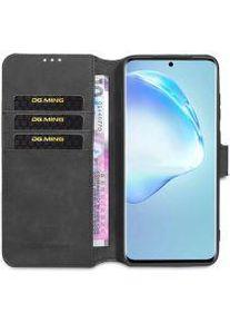 Samsung DG Ming Retro Portemonnee Samsung Galaxy S20 Ultra Hoesje Zwart