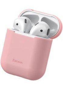 Apple Baseus Ultradun Siliconen Apple AirPods Hoesje Roze