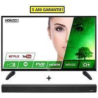 Pachet promo SMART TV Horizon 32HL7330H HD 81 cm + Soundbar Horizon HAV-S2200 16W