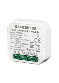 Malmbergs WiFi Smart Modul On/Off 2-kanal / Serievender, 2x1150W/2x150W LE