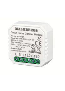 Malmbergs WiFi Smart Boksdimmer 2-kanal / Serievender, 2x100W LED