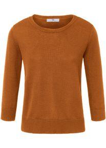 Rundhals-Pullover aus 100% SUPIMA®-Baumwolle Peter Hahn braun