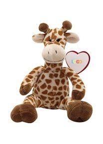 Giffits Peluches promotion: 'Girafe MAURICE' - brun - Polyester - comme objets-publicitaires Impression du logo moyennant des frais supplémentaires (1 pièce/prix)