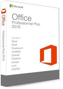 Microsoft Office 2016 Professionnel Plus 32/64 Bit (clé de produit)