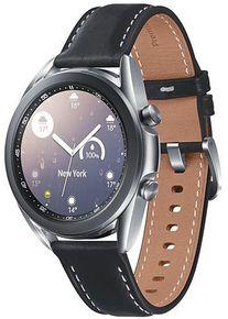 Smartwatch Samsung Galaxy Watch 3 SM-R850, Procesor Dual-Core 1.15GHz, Super AMOLED 1.2inch, 1GB RAM, 8GB Flash, Bluetooth, Wi-Fi, Carcasa Aluminiu, Bratara Piele 41mm, Rezistent la apa si praf, Tizen (Argintiu)