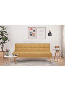 Canapea extensibila tapitata cu stofa, 3 locuri Urban Curry / Natural, l181xA81xH80 cm