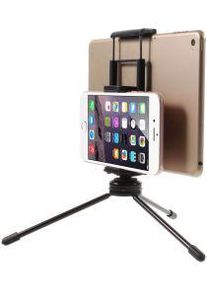 Multi-Functioneel Mini Metalen Tripod Stand Smartphone / Tablet Zwart
