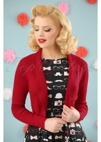 Collectif Clothing 50s Jean Knitted Bolero in Red
