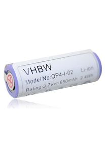 vhbw Li-Ion-battery - 650mAh (3.7V) - for electric razor, hair clippers brown Oral-B Pro 4500 / Type 3756