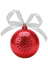 Giffits Haut-parleur publicitaires personnalisés: 'Jingle Ball' - rouge - Plastique - comme Cadeau publicitaire Impression du logo moyennant des frais supplémentaires (1 pièce/prix)