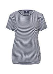 Tom Tailor Kurzes Nachthemd mit Streifen, Damen, blau, Größe: 38