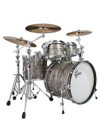 """Gretsch Drums USA Brooklyn 22"""" Grey Oyster Drumset Batterie acoustique"""