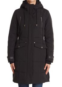Imbracaminte Femei Lucky Brand Quilted Hooded Long Parka Jacket BLACK