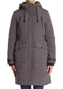 Imbracaminte Femei Lucky Brand Quilted Hooded Long Parka Jacket GUNMETAL