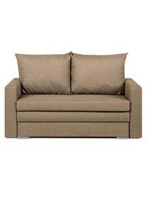 Canapea extensibilă Doty, 145x84x85 cm, textil, maro deschis