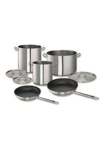 Sus Batterie de cuisine Chef, acier inoxydable, 8 pièces, couvercles inclus| Professionnel | HoReCa | CHR