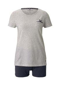 Tom Tailor Gemustertes Pyjama-Set mit Shorts, Damen, blau, Größe: 34