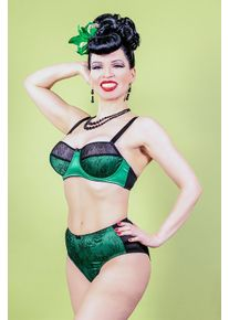What Katie Did 50s Ingrid Lace Bra in Green