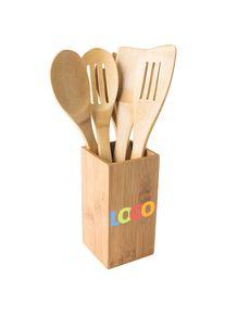 goodies promotionnels: 'Ustensiles de cuisine ...' (Reflects) - brun - Bambou - comme Cadeau publicitaire Impression du logo moyennant des frais
