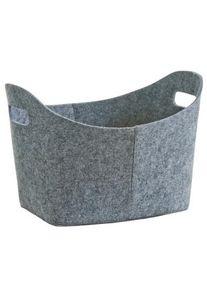 zeller Filzkorb, oval, Praktischer Allzweckkorb für den alltäglichen Gebrauch, Farbe: grau
