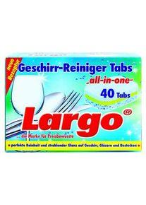 """Weco Largo Geschirr-Reiniger Tabs """"all-in-one"""", Faltschachtel wiederverschließbar, 1 Packung = 40 Tabs à 20 g"""