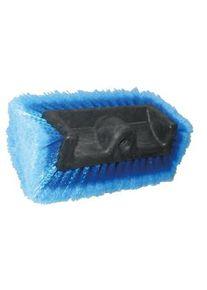 De Witte QUADRO Bürste, 25 cm, Waschbürste mit gefederten und besonders weichen Haaren, Farbe: blau