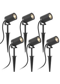 KS Verlichting 6 x Stark tuin spot LED inclusief snoer & stekker