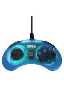 retro-bit SEGA MD 8-Button USB Blue - Gamepad - Sega Megadrive