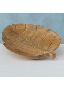 Platou decorativ din lemn de tec Aris Natural, L43xl32xH5 cm