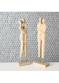 Decoratiune din lemn de mango Valtina Natural, Modele Asortate, l18xA9xH56 cm