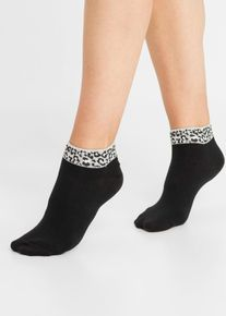 bonprix Nieuw, Korte sokken (6 paar), zwart, Dames