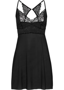 bonprix Nieuw, Slipdress, zwart, Dames